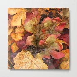 Fabulous Fall Autumn Leaves Metal Print