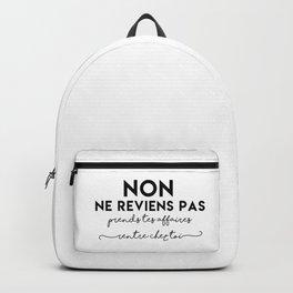 Non ne reviens pas Backpack
