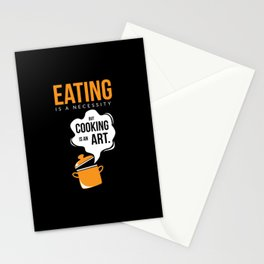 Cool Design Cooking Is Art Stationery Cards