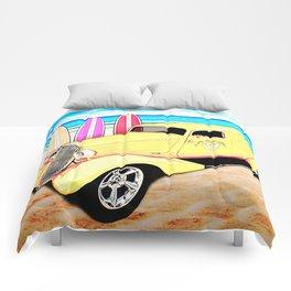 Surf Shop Sedan Delivery on Padre Island Comforters