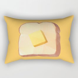 Toast with Butter polygon art Rectangular Pillow