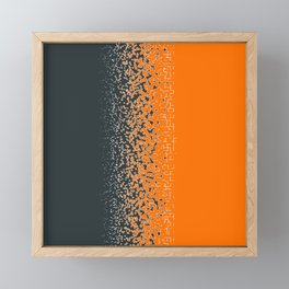 Shredded ORANGE Framed Mini Art Print