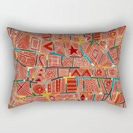 ESHE red Rectangular Pillow