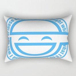 The Laughing Man Rectangular Pillow