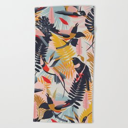 Paradise Birds II. Beach Towel