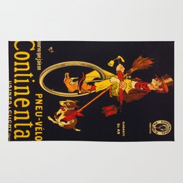 Vintage poster - Continental Bicycles Rug