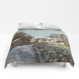 Snow at Argenteuil Comforters