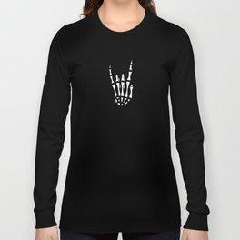 Heavy metal skeleton hand Long Sleeve T-shirt