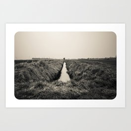 B&W Landscape Triptych II Art Print