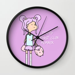 GUMMY GIRL 2 - PROUD FEMINIST Wall Clock