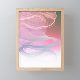 Flow Motion Vibes 1. Pink, Violet and Grey Framed Mini Art Print