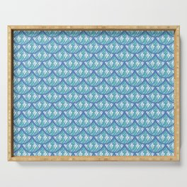 Mermaid Scales Pattern - Teal and Purple Palette Serving Tray