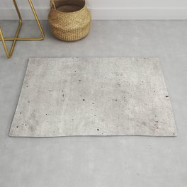 Smooth Concrete Small Rock Holes Light Brush Pattern Gray Textured Pattern Rug