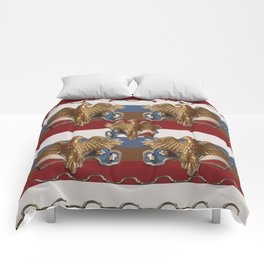 Bronze American Eagles Comforters