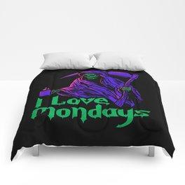 I Love Mondays Comforters
