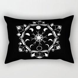 Moon Flower Rectangular Pillow