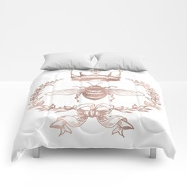 Queen Bee in Rose Gold Pink Comforters