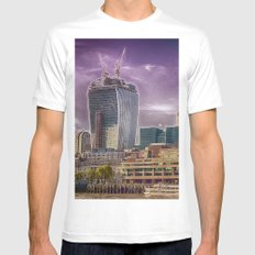 Cheese and Pickle MEDIUM White Mens Fitted Tee