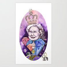 Lizzie in the Sky with Daimonds Art Print