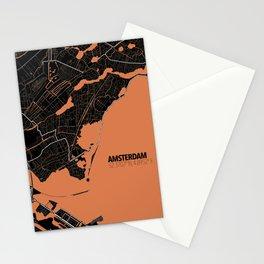 Amsterdam Minimalist Map Stationery Cards