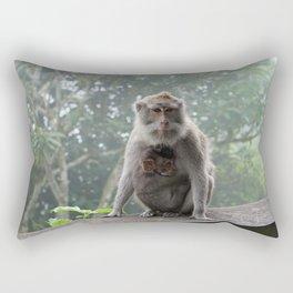 lempuyang temple bali - monkeys at the top Rectangular Pillow