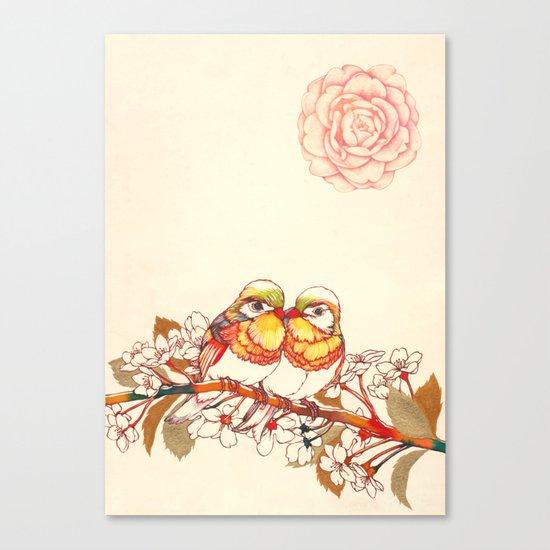 Lovebirds Canvas Print