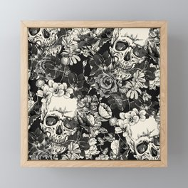 SKULLS HALLOWEEN Framed Mini Art Print