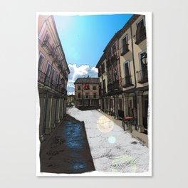 Calle Mayor (color) Canvas Print