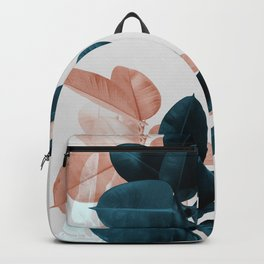 Blush & Blue Leaves Backpack
