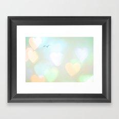 Sky Of Hearts Framed Art Print