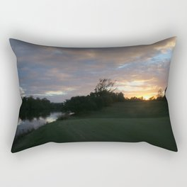 Sunset over intercoastal Rectangular Pillow