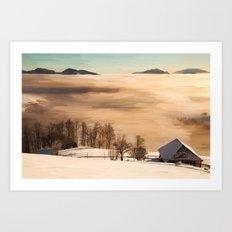 Nubes saltus Art Print