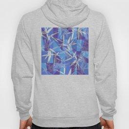 Bamboo in Blue Geometric Pattern Hoody