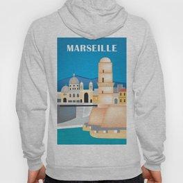 Marseille, France - Skyline Illustration by Loose Petals Hoody