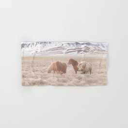WILD AND FREE 3 - HORSES OF ICELAND Hand & Bath Towel