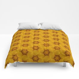 Yellow Flower Chain Pattern Comforters