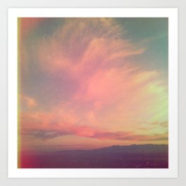 Da Sunset Art Print
