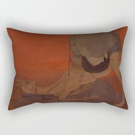 Abanindranath Tagore - Journey's End (1913) Rectangular Pillow
