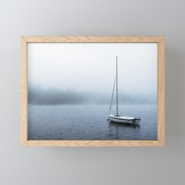 Foggy Lake with Boat ii Framed Mini Art Print