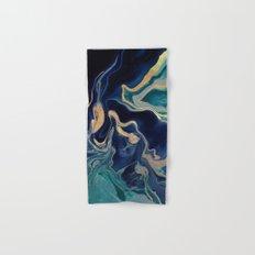 DRAMAQUEEN - GOLD INDIGO MARBLE Hand & Bath Towel