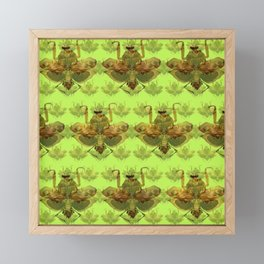 Giant Dead Leaf Mantis (Deroplatys desiccata) pattern Framed Mini Art Print