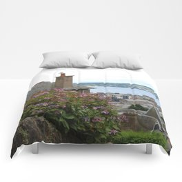 House on a Hilltop Comforters