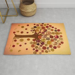 Button Tree Fall Rug