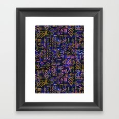 Tapa Tribal Aura Framed Art Print