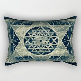 Sacred Geometry for your daily life- SRI YANTRA Rectangular Pillow
