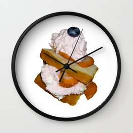 Ice Cream and Shortbread Wall Clock