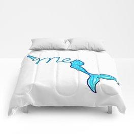 Half unicorn, half mermaid Comforters