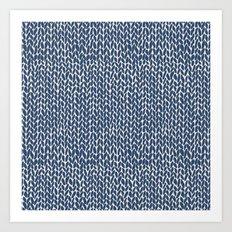 Hand Knit Navy Art Print