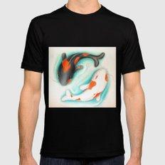 Coy Fish (Yin & Yang) Black MEDIUM Mens Fitted Tee