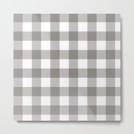 Grey & White Plaid Metal Print